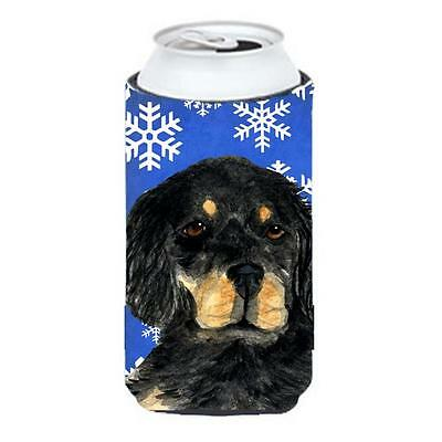 Gordon Setter Winter Snowflakes Holiday Tall Boy bottle sleeve Hugger 22 To 2...