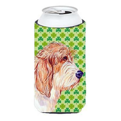 Petit Basset Griffon Vendeen St. Patricks Day Shamrock Tall Boy bottle sleeve...