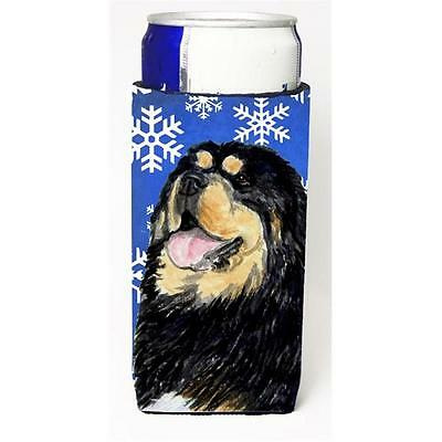 Tibetan Mastiff Winter Snowflakes Holiday Michelob Ultra bottle sleeves For S...