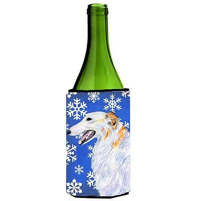 Carolines Treasures Borzoi Winter Snowflakes Holiday Wine Bottle Hugger