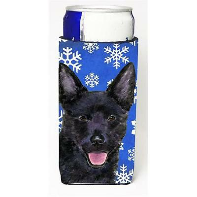 Australian Kelpie Winter Snowflakes Holiday Michelob Ultra bottle sleeves for...