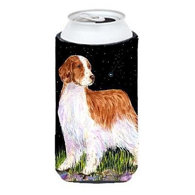 Starry Night Welsh Springer Spaniel Tall Boy bottle sleeve Hugger 22 To 24 oz.