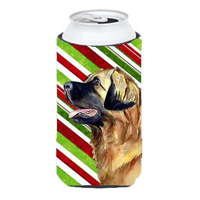 Leonberger Candy Cane Holiday Christmas Tall Boy bottle sleeve Hugger 22 To 2...