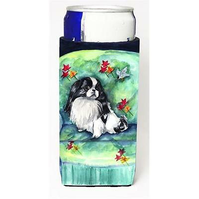 Japanese Chin in Mommas Chair Michelob Ultra bottle sleeve for Slim Can