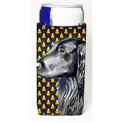 Flat Coated Retriever Candy Corn Halloween Portrait Michelob Ultra bottle sle...