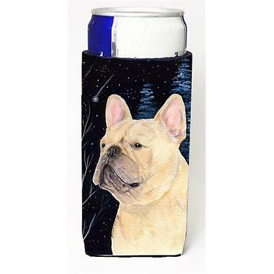 Starry Night French Bulldog Michelob Ultra bottle sleeves for slim cans 12 oz.