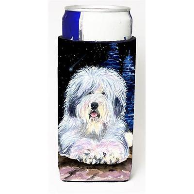 Starry Night Old English Sheepdog Michelob Ultra bottle sleeves for slim cans...
