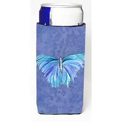 Butterfly On Slate Blue Michelob Ultra bottle sleeves For Slim Cans 12 oz.