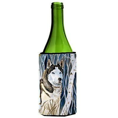 Carolines Treasures 7137LITERK Siberian Husky Wine bottle sleeve Hugger 24 oz.