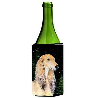Carolines Treasures Starry Night Saluki Wine bottle sleeve Hugger 24 oz.
