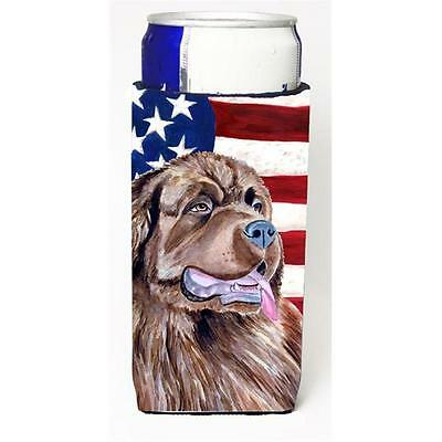 USA American Flag With Newfoundland Michelob Ultra bottle sleeves For Slim Ca...