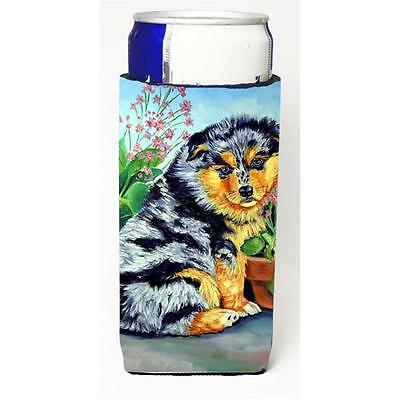 Australian Shepherd Puppy Michelob Ultra bottle sleeve for Slim Can