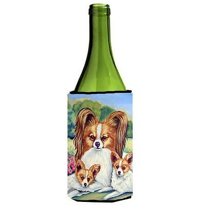 Carolines Treasures 7042LITERK Papillon A Mommas Love Wine bottle sleeve Hugger
