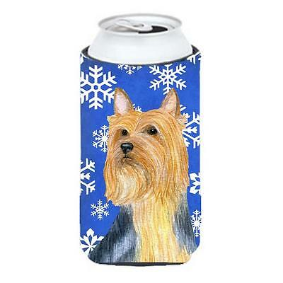 Silky Terrier Winter Snowflakes Holiday Tall Boy bottle sleeve Hugger 22 To 2...