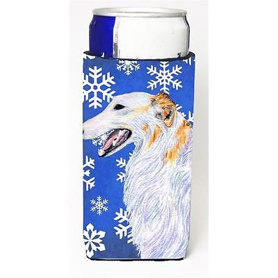 Carolines Treasures Borzoi Winter Snowflakes Holiday Michelob Ultra for Slim Can