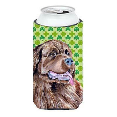 Newfoundland St. Patricks Day Shamrock Portrait Tall Boy bottle sleeve Hugger