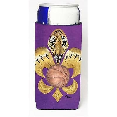 Tiger Fleur De Lis Basketball Michelob Ultra bottle sleeve for Slim Can • AUD 47.47