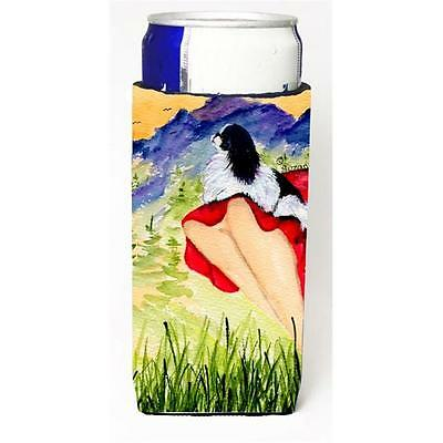 Lady With Her Japanese Chin Michelob Ultra bottle sleeves For Slim Cans 12 oz.