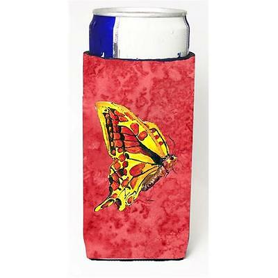 Butterfly On Red Michelob Ultra bottle sleeves For Slim Cans 12 oz.
