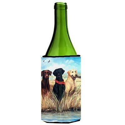 Labrador Black Chocolate and Yellow Wine bottle sleeve Hugger