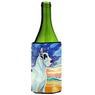 Carolines Treasures Harelquin Great Dane Wine bottle sleeve Hugger 24 oz.