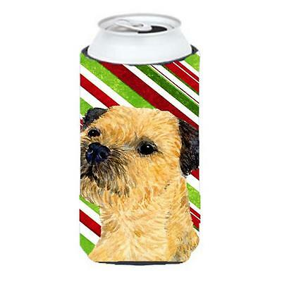 Border Terrier Candy Cane Holiday Christmas Tall Boy bottle sleeve Hugger 22 ...