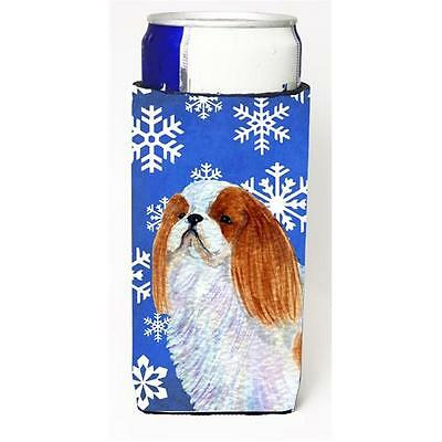 English Toy Spaniel Winter Snowflakes Holiday Michelob Ultra bottle sleeves F...