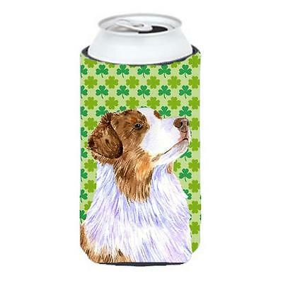 Australian Shepherd St. Patricks Day Shamrock Tall Boy bottle sleeve Hugger