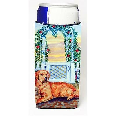 Golden Retriever And Puppy At The Fence Michelob Ultra bottle sleeves For Sli...