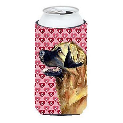 Leonberger Hearts Love and Valentines Day Portrait Tall Boy bottle sleeve Hugger