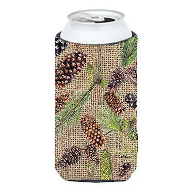 Carolines Treasures Pine Cones Tall Boy bottle sleeve Hugger 22 To 24 oz.