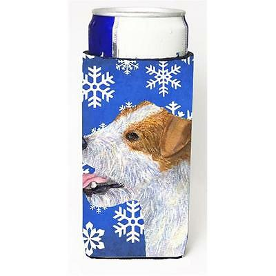 Jack Russell Terrier Winter Snowflakes Holiday Michelob Ultra bottle sleeves ...