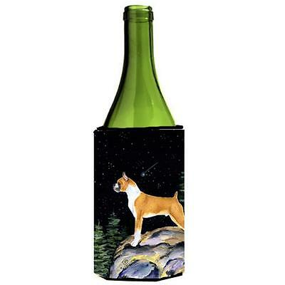 Carolines Treasures Starry Night Boxer Wine bottle sleeve Hugger 24 oz.
