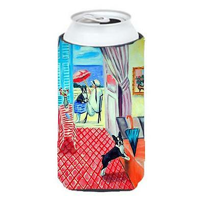 Lady With Her Boston Terrier Tall Boy bottle sleeve Hugger 22 To 24 oz.