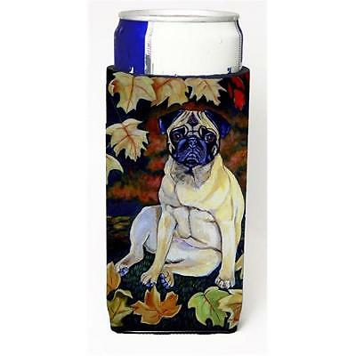 Fawn Pug In Fall Leaves Michelob Ultra bottle sleeves For Slim Cans 12 oz.