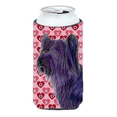 Skye Terrier Hearts Love And Valentines Day Portrait Tall Boy bottle sleeve H...