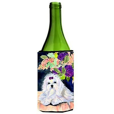 Carolines Treasures SS8287LITERK Maltese Wine bottle sleeve Hugger 24 oz.