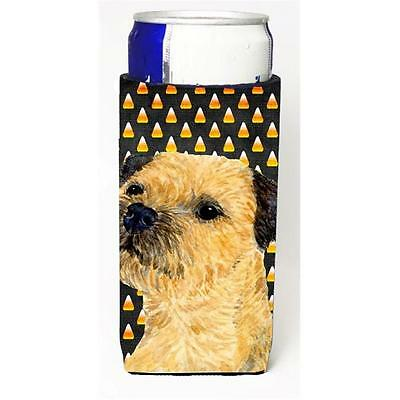 Border Terrier Candy Corn Halloween Portrait Michelob Ultra bottle sleeves Fo...