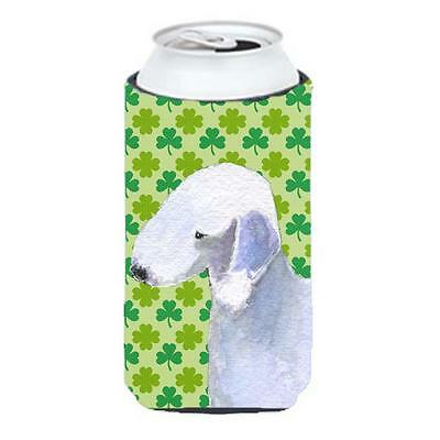 Bedlington Terrier St. Patricks Day Shamrock Portrait Tall Boy bottle sleeve ...