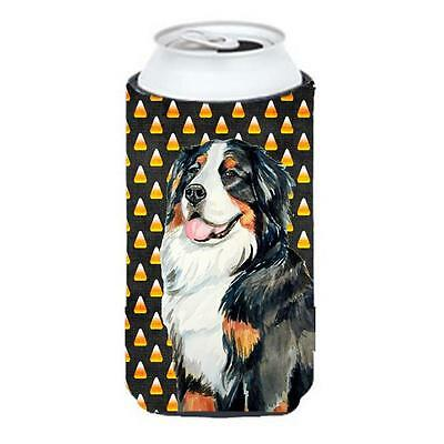 Bernese Mountain Dog Candy Corn Halloween Portrait Tall Boy bottle sleeve Hug...