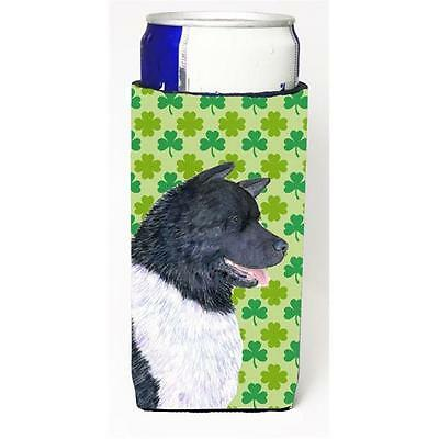 Akita St. Patricks Day Shamrock Portrait Michelob Ultra bottle sleeves For Sl...