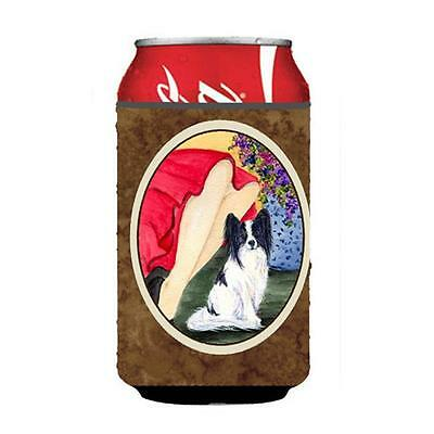 Carolines Treasures Lady With Her Papillon Can Or bottle sleeve Hugger 12 oz.