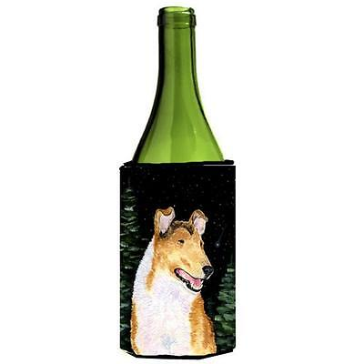 Carolines Treasures Starry Night Collie Smooth Wine bottle sleeve Hugger 24 oz.