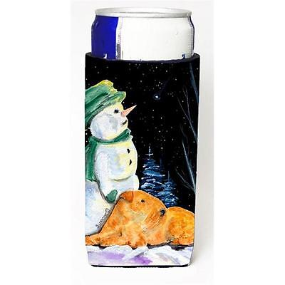 Snowman With Lakeland Terrier Michelob Ultra bottle sleeves For Slim Cans 12 oz.