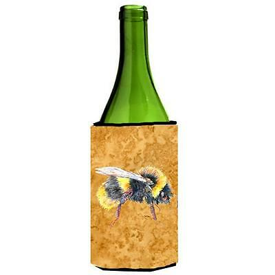 Carolines Treasures 8850LITERK Bee On Gold Wine bottle sleeve Hugger 24 oz.