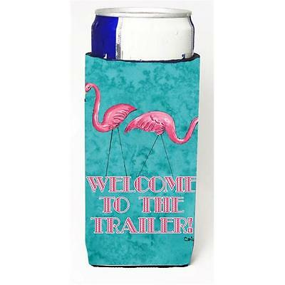 Welcome To The Trailer With Flamingos Michelob Ultra bottle sleeves For Slim ...