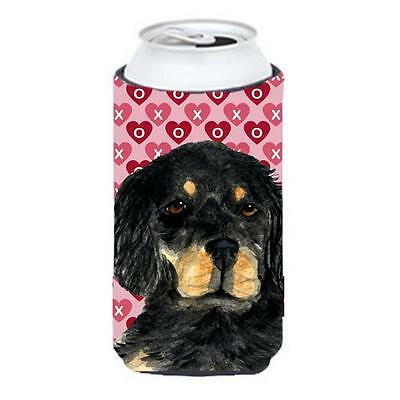 Gordon Setter Hearts Love And Valentines Day Portrait Tall Boy bottle sleeve ...