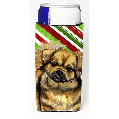 Tibetan Spaniel Candy Cane Holiday Christmas Michelob Ultra bottle sleeves Fo...
