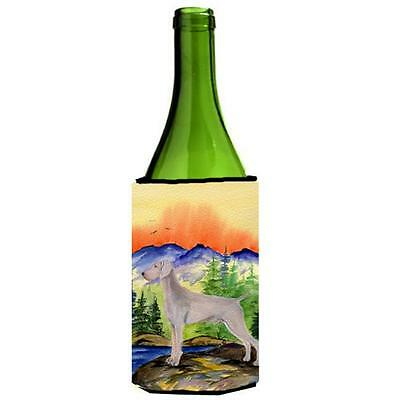 Carolines Treasures SS8267LITERK Weimaraner Wine bottle sleeve Hugger 24 oz.