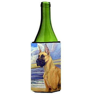 Fawn Great Dane At The Beach Wine bottle sleeve Hugger 24 oz.